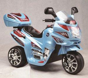 Мотоцикл на аккумуляторе для катания детей  С051 (синий)