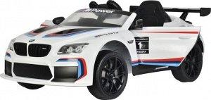 Машина на аккумуляторе для катания детей 6666R BMW (белая)