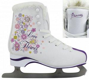 """Коньки фигурные """"Love flower"""" Princess PW-215CE р.39 (1/6)"""
