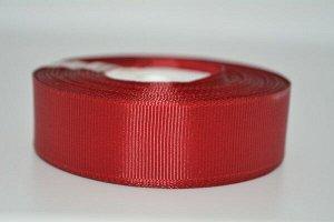 Лента репсовая 2,5см цвет 26 красный