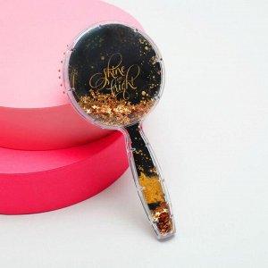 Расчёска-шейкер «Золото» 8,5 х 17,7 см