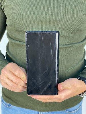 Кошелек мужской кожаный (черный цвет)