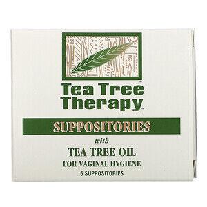 Tea Tree Therapy, Свечи, с маслом чайного дерева, для гигиены влагалища, 6 свечей