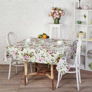 Скатерть  Ассорти  145х145, рогожка, 100 % хлопок,  Вишнёвый сад