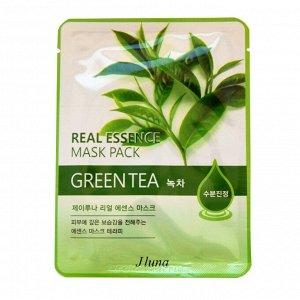 Тканевая маска для лица с экстрактом зелёного чая