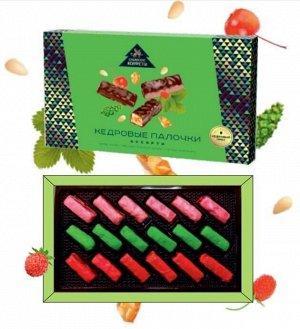 Кедровые палочки ассорти (яблоко, шишка, земляника) «Сибирские конфеты» 110 г