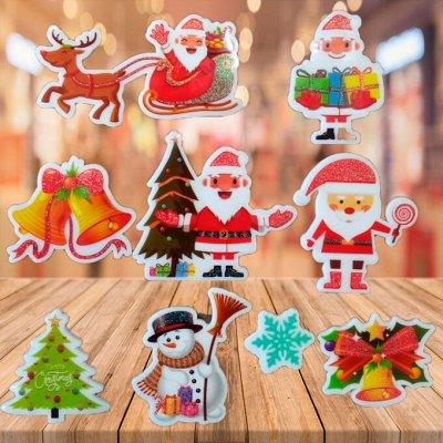Фабрика деда мороза*Новогодний БУМ-10 Ёлки по шикарным цена — Гелиевые наклейки. Многоразовые