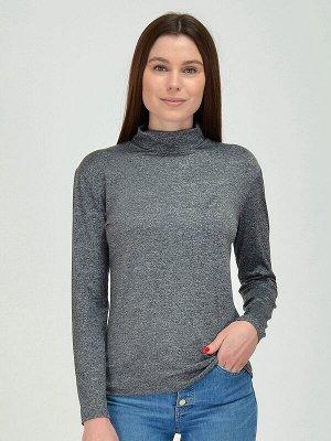 Блузка Состав: 95% вискоза;5% лайкра.  Цвет: серый.   Подробнее: Стильная трикотажная блузка серого цвета станет ярким акцентом вашего образа. Она, также, поможет создать уникальный, неповторимый стил