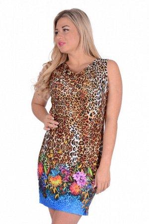 Платье Ткань: Вискоза (вискоза – 70%, п/э – 20%, лайкра – 5%); Цвет: Коричневый   Длина платья по спинке около 88 см (для 50 размера).