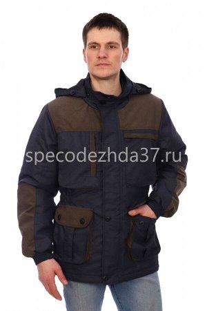 """Куртка """"Стрелок"""" цв.т.синий/хаки тк.таслан"""
