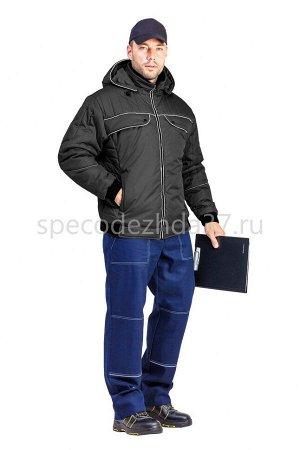 """Куртка демисезонная """"Абсолют"""" цв.чёрный тк.дюспо"""