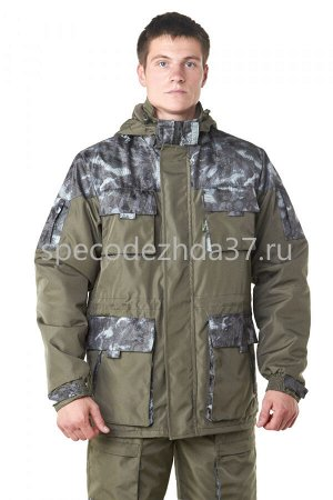 """Куртка """"City"""" цв.олива/рисунок тк.дуплекс"""