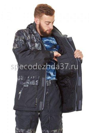 """Куртка """"City"""" цв.серый/рисунок тк.дуплекс"""