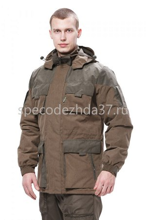"""Куртка """"City"""" цв.св.коричневый/олива тк.канада"""