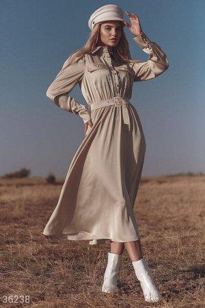 Шелковое платье в рубашечном стиле