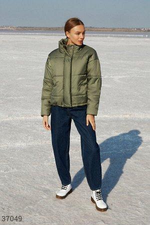 Свободная куртка цвета хаки