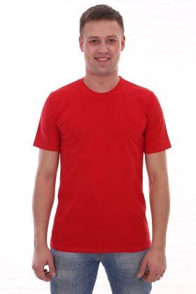 Футболка мужская красного цвета
