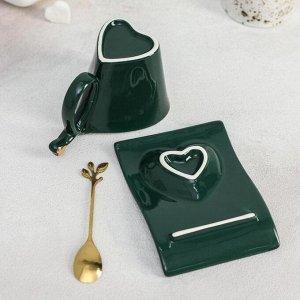Чайная пара «Любовь», чашка 300 мл, блюдце, ложка