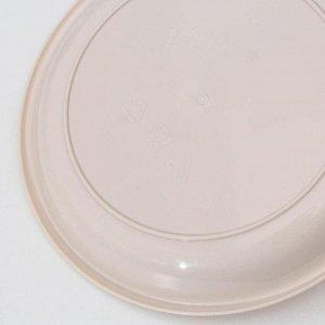 Тарелка малая, d=18,5 см, цвет бежевый
