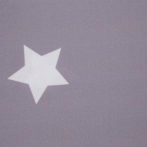 """Комплект штор """"Этель"""" Grey stars 145*260 см-2 шт. 100% п/э. 140 г/м2"""