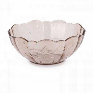 Салатник Салатник  0,3л [НЕЖНОСТЬ] ТОНИРОВАННЫЙ. Салатник «Нежность» выполнен из высококачественного пищевого полистирола, который имитирует стекло. Рельефная форма в сочетании с прозрачным материалом