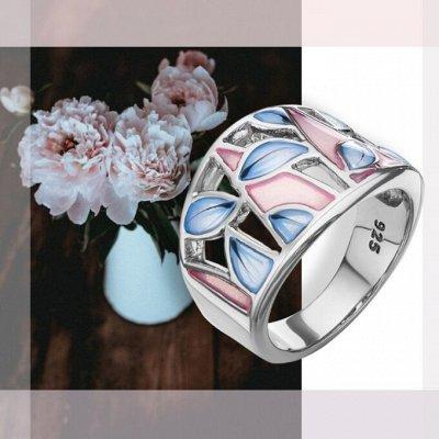 СЕРЕБРО РОССИИ! Огромный ассортимент💍 Лучший подарок 🎁 — Кольца с эмалью — Ювелирные кольца