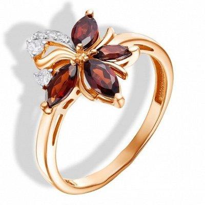 СЕРЕБРО РОССИИ! Огромный ассортимент💍 Лучший подарок 🎁 — Кольца с фианитами цветные — Ювелирные кольца
