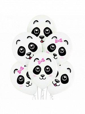 """14""""шар воздушный с рисунком панды 2 цвета"""