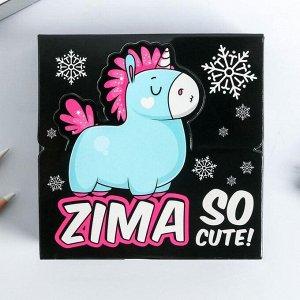 Бумага для записей в коробке Zima: 250 листов 9 х 9 см