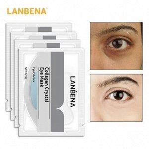 Коллагеновые патчи под глаза с гиалуроновой кислотой Lanbena Collagen Crystal Eye Mask
