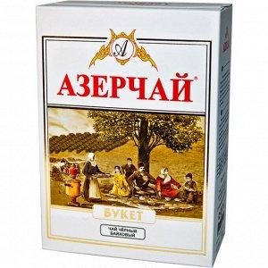 Чай черный 100гр картон байховый Азерчай Букет