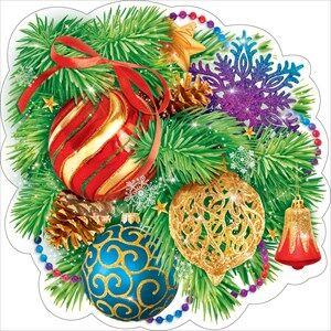 Новогоднее украшение на скотче