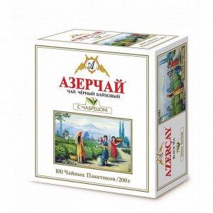 Чай черный байховый 100пак Азерчай Чабрец