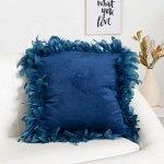Наволочка декоративная Этель «Роскошь», цвет синий, размер 40х40 см