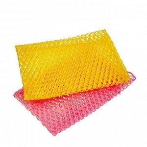 """Мочалка-сетка """"Soft Mesh Scrubber"""" для мытья посуды и кухонных поверхностей (средней жесткости) (29 х 30) х 1 шт / 600"""