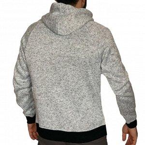Фирменная мужская толстовка Akademiks – нейтральный цвет, высокий ворот-капюшон, карман-кенгуру №123