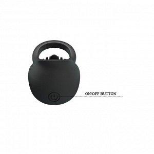 Эрекционное виброкольцо с подвижным язычком Pretty Love Ring Shaking II (12 режимов)