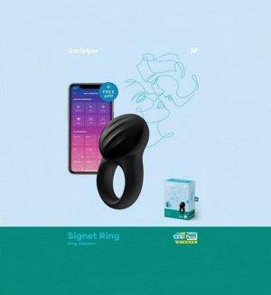Виброкольцо Satisfyer Signet Ring (10 режимов, синхронизируется со смартфоном)
