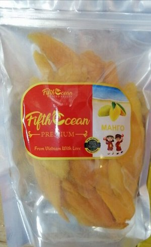 Сушеное Манго Fifth Ocean 0,5кг без сахара