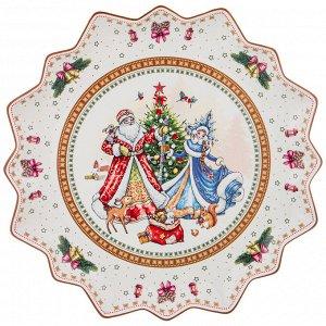 """Блюдо БЛЮДО """"CHRISTMAS COLLECTION"""" ДИАМЕТР=38 СМ ВЫСОТА=4 СМ (КОР=10ШТ.)  Материал: Фарфор Новый Год – время чудес. Все преображается вокруг, наряжаясь в удивительные декорации. В последнее время все"""