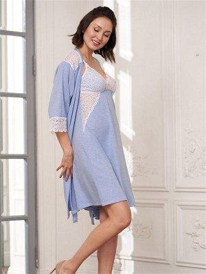 Комплект Ofelia голубой меланж  (хлопок 55% PE30% PA10% эластан 5%)