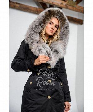 Парка - пальто с меховым капюшономАртикул: 69121-2-110-CH-P