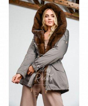 Парка - куртка с норковым капюшономАртикул: MD-9020-80-UG-N