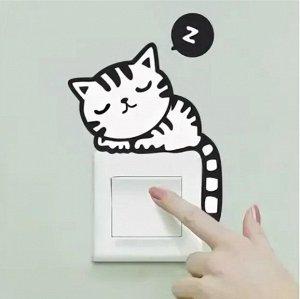 """Наклейка на выключатель (розетку) """"Котик"""""""