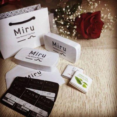 👁Японские линзы MIRU. Акция и крутая новинка! — Miru 1-day Menicon Flat Pack — Контактные линзы