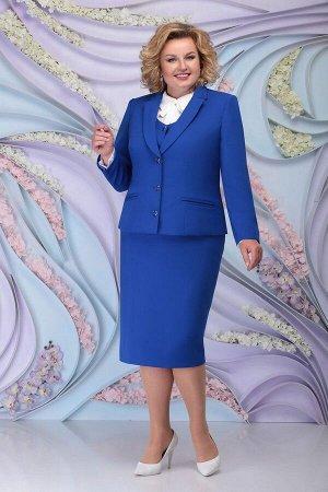 Блуза, жакет, жилет, юбка Ninele 7296 василек