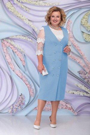 Блуза, сарафан Ninele 7303 голубой