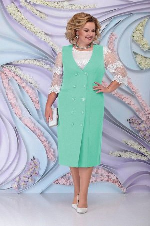 Блуза, сарафан Ninele 7303 светло-зеленый