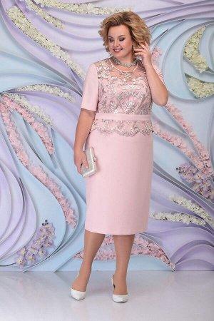 Жакет, платье Ninele 3101 пудра