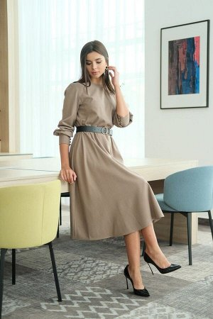 Платье LadisLine Артикул: 1265 кофе
